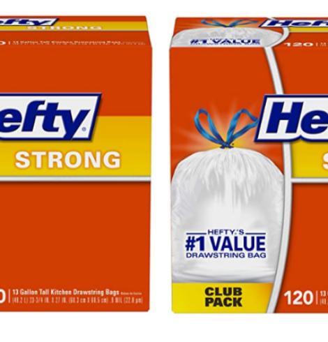 Hefty Strong Trash Bags 13 Gallon, 120 Count!