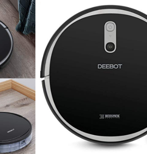 Ecovacs DEEBOT 600 Wi-Fi Connected Robotic Vacuum Only $127.49 + Earn $20 in Kohl's Cash (Today Only)!