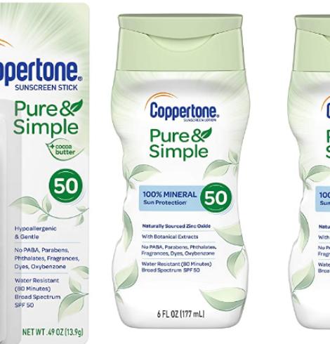 Coppertone Pure & Simple Deals!