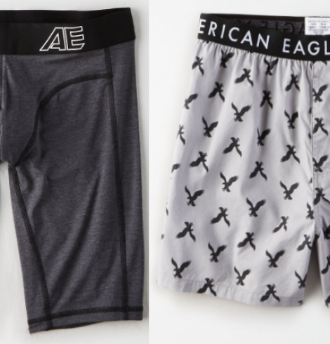 American Eagle Men's Underwear Only $7 (Regular up to $17.95) or 3 Pairs for $13