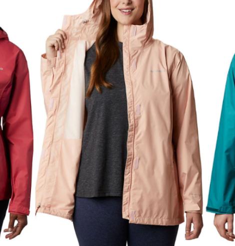 Women's Columbia Arcadia II Rain Jacket Over 70% Off!
