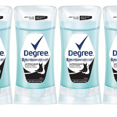 Degree UltraClear Black + White Antiperspirant Deodorant 2.6 oz, 4 count Deal!