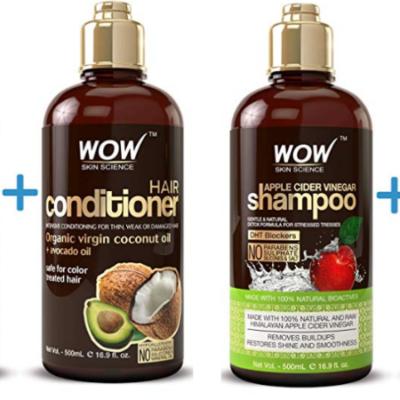 WOW Apple Cider Vinegar Shampoo & Hair Conditioner Set 44% Off!
