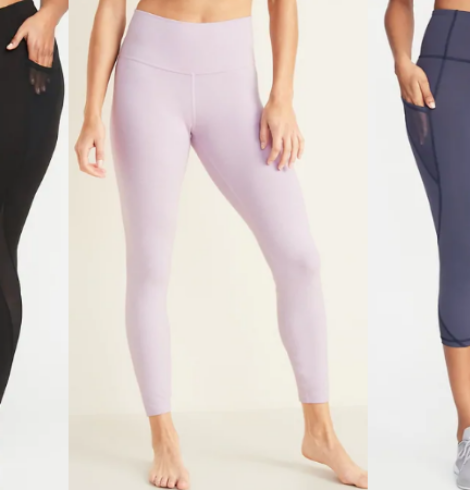 Old Navy Women's Elevate Compression Leggings Only $10 + Girls' Only $8 – Today Only!