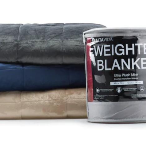 Altavida 12-lb. Faux Mink to Microfiber Weighted Blankets Only $16 (Regular $79.99)!