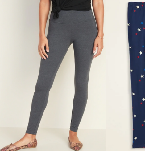 Old Navy Leggings Only $5 – $6 – Women and Girl Sizes!