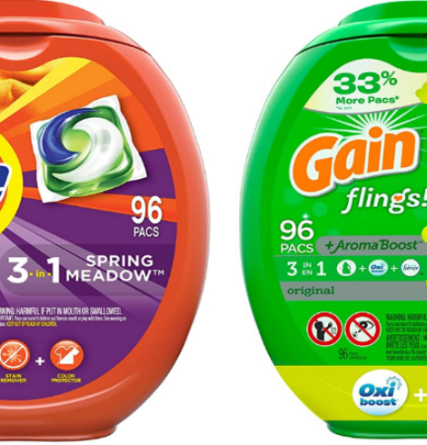 Save on Tide Pods or Gain Flings 96 ct. Tubs!