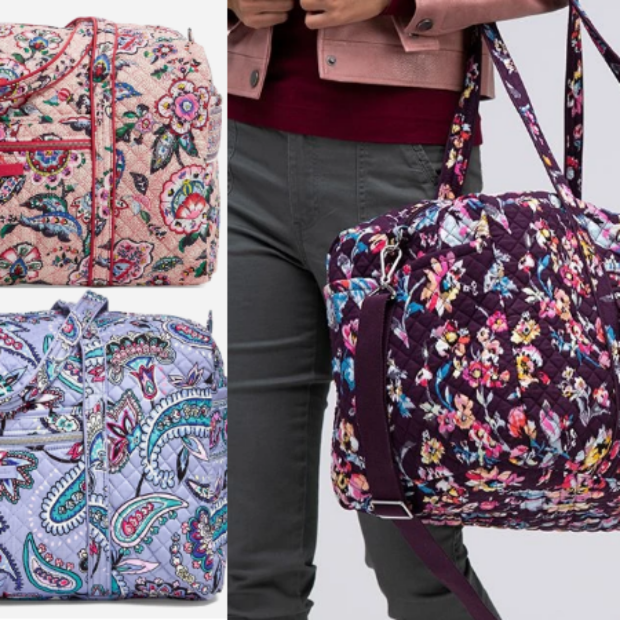 Vera Bradley Large Duffel Bag Only $35 Shipped (Regular $100)!