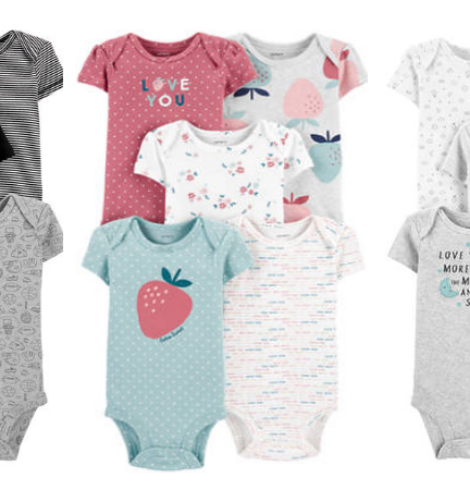 65% Off All Carter's – 5 Pack Baby Bodysuits Only $9.80+ Lots More!