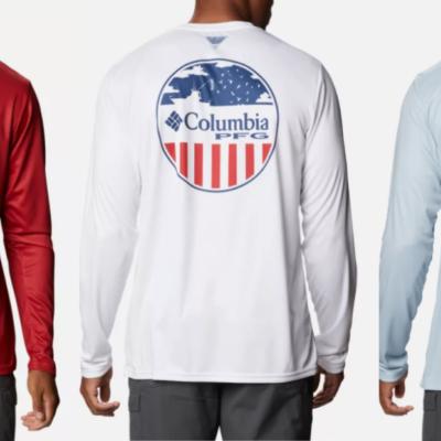 Men's PFG Terminal Tackle Patriot Long Sleeve Shirt Only $16 Shipped (Regular $40)!