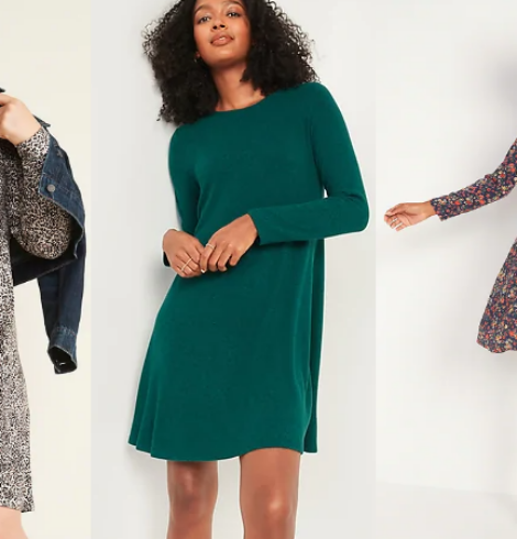 Old Navy Swing Dresses for Women and Girls Only $10 -$12 Today Only!