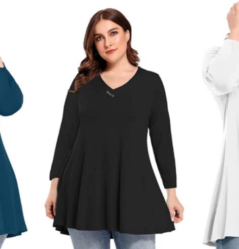 BELAROI Plus Size Tunics – New 60% Off Code!