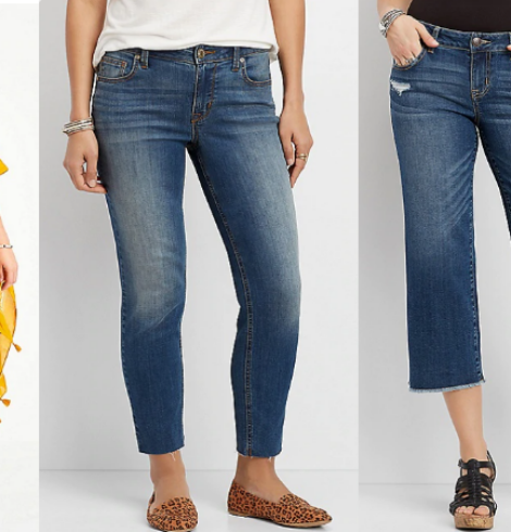 $20 Cropped & Capri Jeans from Maurices – Today Only! (Sizes 0 – 24)!