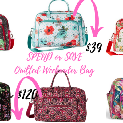 Spend or Save? Quilted Weekender Bags!
