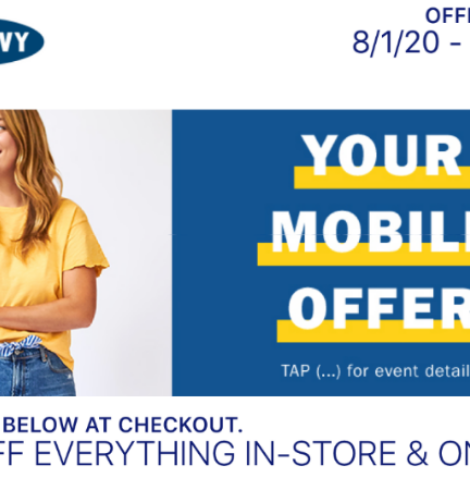 50% Off Old Navy Purchase Coupon – Use In Store or Online!