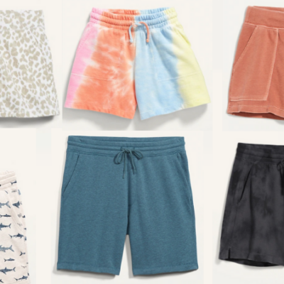 Old Navy Fleece Shorts for the Family Only $9 – $10 – Today Only!