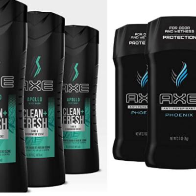 Axe Body Wash & Deodorant 4 Pack Deals!