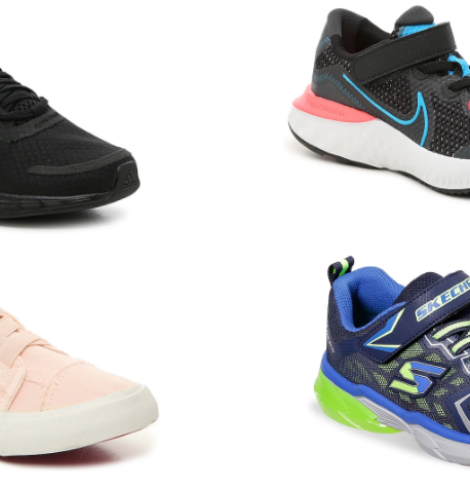 DSW – Extra 50% Off Clearance Shoes for Kids = Hot Deals on adidas, Nike, Skechers & More!