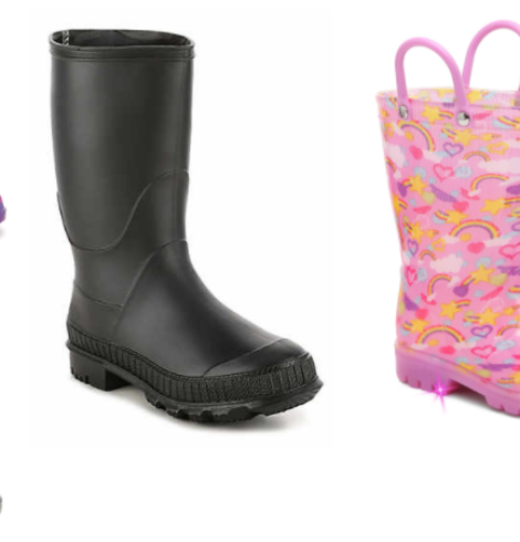 Two Pairs of DSW Toddler or Youth Rain Boots Only $25 Shipped!