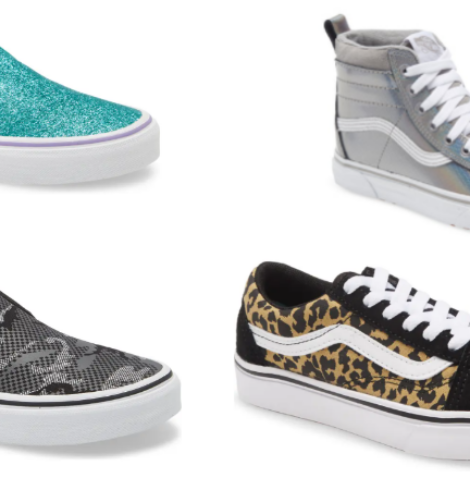 Select Van's Shoes for Kids 40% Off!