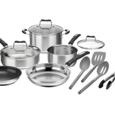 Cuisinart – 12-Piece Cookware Set – Stainless Steel 67% Off – Today Only!