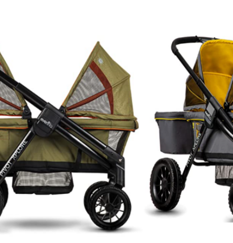 Evenflo Pivot Xplore Double Stroller Wagon, All-Terrain – 40% Off Today Only!