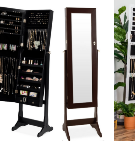 Best Choice Products Full Length Standing Jewelry Mirror Armoire Only $90 (Regular $170)!