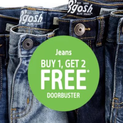OskKosh Jeans – Buy One Pair and Get Two More Free!
