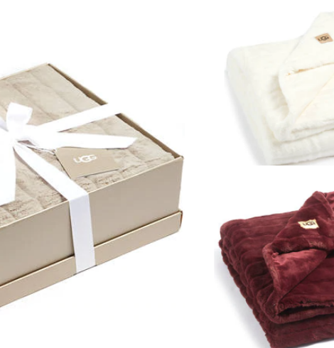 UGG Boxed Faux Fur Throw Blankets 50% Off + Possible Extra 15% Off!