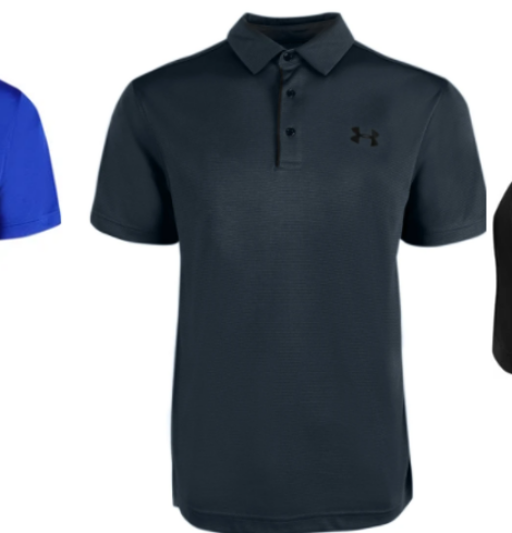 Under Armour Men's Ribbed Golf Polos – 3 for $51 – Just $17 Each (Regular $39.99)!