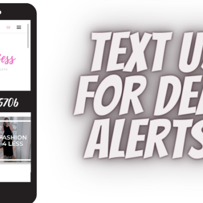 New – Text Message Deal Alerts!