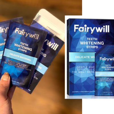 Fairywill Teeth Whitening Strips, Water Flosser and Electric Toothbrush Powerful Sonic Cleaning Deals!