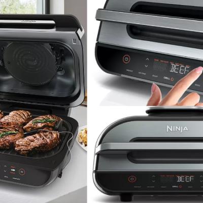 Ninja Foodi XL 6-in-1 Indoor Air Grill w/ Smart Probe & Skewer Set Only $200 (Regular $300)!