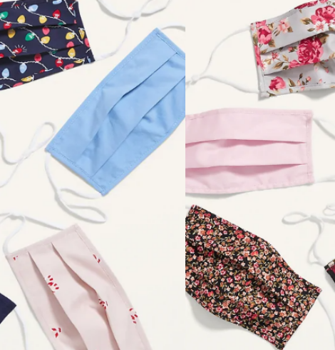 Old Navy Face 5 Pack Masks $5 (Only $1 Each)!