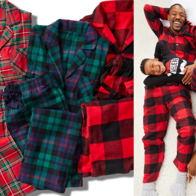 Family Flannel Pajamas Sets Only $12 – $14 Each – Today Only!