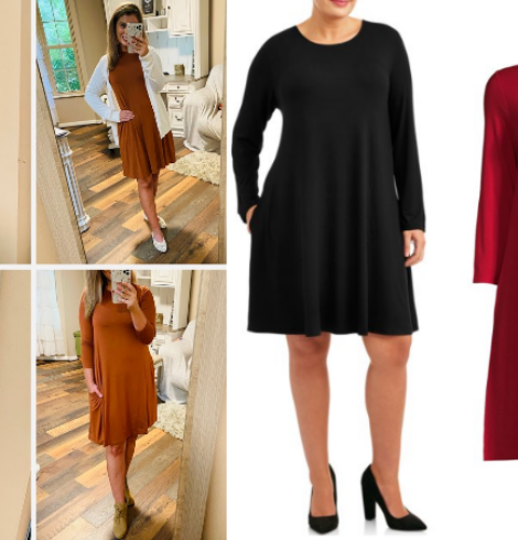 I love these $13 Swing Dresses from Walmart – Sizes XS – 4X!