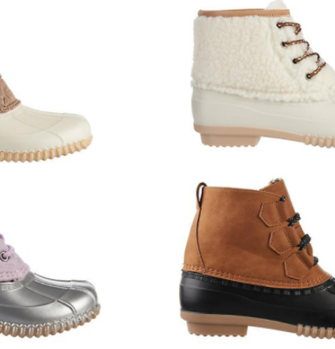 Magellan Duck Boots for Women and Girls as low as $15!