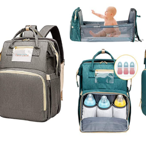 Cosy Casa Baby Travel Diaper Bag Backpack with Bassinet – 35% Off Code!