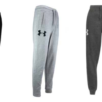 Under Armour Men's Rival Fleece Logo Joggers & Hoodies Set Only $44 Shipped ($120 Value)