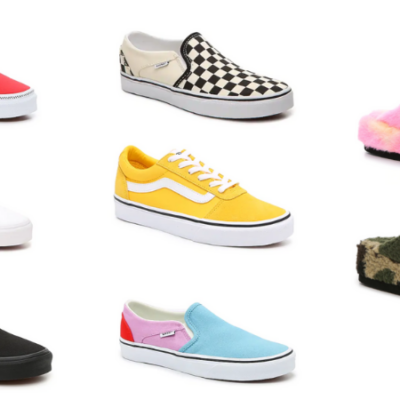 Vans for Men and Women Only $35 + Free Pair of Slippers ($79.98 Value)!