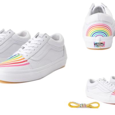 Vans x FLOUR SHOP Old Skool Rainbow Skate Shoes Only $29.99 (Regular $84.99)!