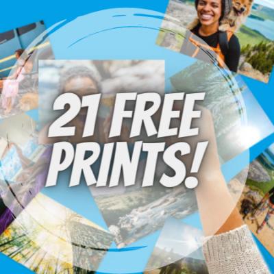 Score 21 FREE Photo Prints for Amazon Prime Members!