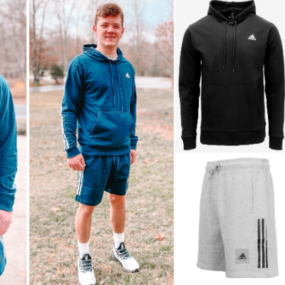 adidas Men's Fleece Shorts + French Terry Hoodie for $34.99 ($100 Value)!